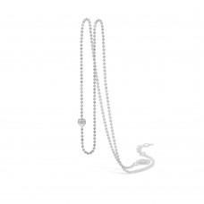 Blossom Halsband kulkedja silver 52+3cm