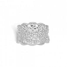 Blossom Ring silver bred blomster strl 54