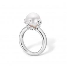 Blossom Ring silver rhod vit sötv.pärla strl 53