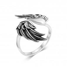 Lars Wallin ring Peace Wing ox. silver
