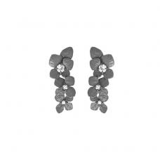 Lotta örhänge brons m vit safir