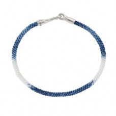 Ole Lynggaard Life Silver/handknotted rope - Blue Jeans