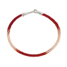 Ole Lynggaard Life Silver/handknotted rope - Red