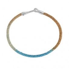 Ole Lynggaard Life Silver/handknotted rope - Cornflower