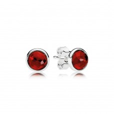 PANDORA Birthstone July Silver stud /synthetic ruby