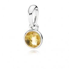 PANDORA Birthstone Nov Silver pendant with citrine