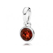PANDORA Birthstone Jan Silver pendant with garnet