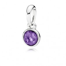 PANDORA Birthstone Feb Silver pendant with synthetic amethyst