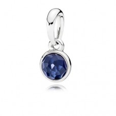 PANDORA Birthstone Sep Silver pendant with synthetic sapphire