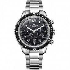 Rotary Ocean Avenger kronograf svart