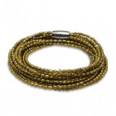 STORY Armband pärlor oliv