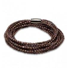 STORY Armband pärlor brun